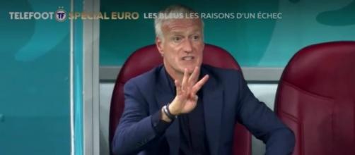 Photo Didier Deschamps - Capture d'écran vidéo Téléfoot