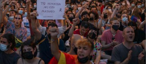 Los asistentes a la manifestación reclamaron justicia para Samuel (Twitter, @paulaplayssims)