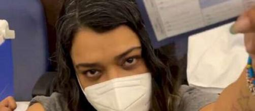 Preta Gil recebe vacina contra a Covid-19 (Reprodução/Instagram/@pretagil)