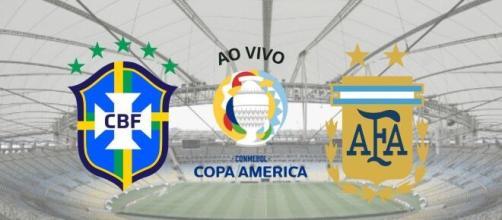 Brasil x Argentina: transmissão ao vivo a partir das 21h (Fotomontagem)