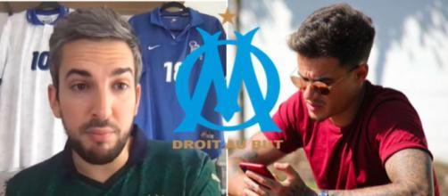 Les confidences de Vézirian sur Coutinho - Photo captures d'écran vidéo YouTube / Instagram et Logo OM