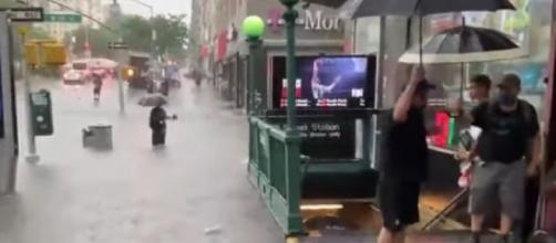 New York submerged: New Yorkers vent their fury as subways under floods (Image source: CBS New York/YouTube)
