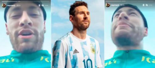 Neymar pousse un coup de gueule contre les brésiliens qui supportent Messi - Photo Instagram Messi / Neymar
