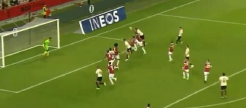 Le premier but de Giroud avec l'AC Milan - Source : capture d'écran, OGC Nice TV