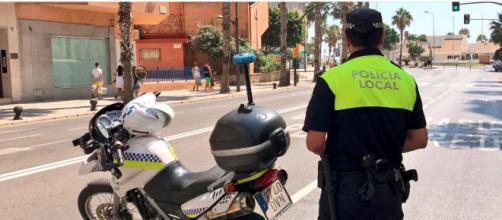 La Policía fue al lugar tras recibir una llamada de los vecinos (Twitter/@malaga)