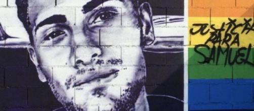 Mural de Samuel Luiz en el que se pide justicia (RRSS)