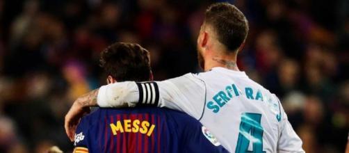 Sergio Ramos et Lionel Messi étaient rivaux en Liga, ils vont désormais jouer ensemble au PSG (Source : capture Youtube)