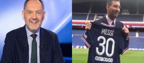 Stéphane Guy s'enflamme pour Messi et le Qatar Circus (Source : montage photo et capture Youtube)