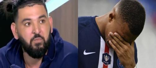 Mohamed Henni défend Mbappé et tacle Messi et le PSG (Source : montage photo et capture Youtube)