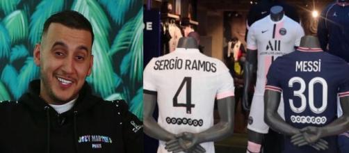 Soso Maness avait annoncé les recrues du PSG (montage photo et capture Instagram)