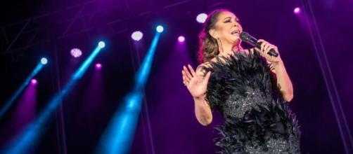 Isabel Pantoja actuando en su último concierto en Jerez. Fuente: Instagram