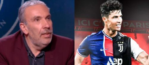 Dominique Séverac s'enflamme pour Messi et tacle Ronaldo (Source : montage photo et capture Youtube)