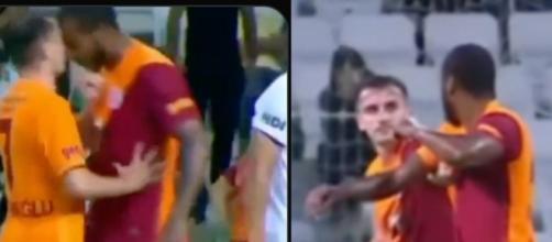 Deux coéquipiers de Galatasaray en sont venus aux mains. (crédit Twitter)