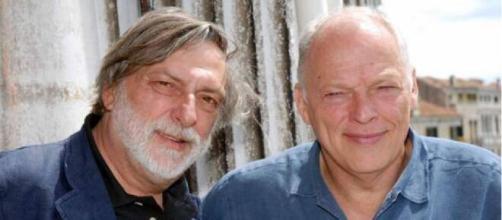 Gino Strada in compagnia del chitarrista dei Pink Floyd David Gilmour