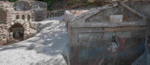 Pompei, nuova scoperta: tomba con resti umani mummificati.
