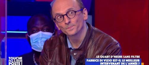 Le chroniqueur de TPMP Fabrice Di Vizio. Source : capture d'écran C8.