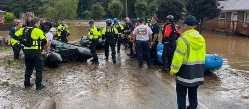 North Carolina flash floods emergency (Image source: NHCFR)