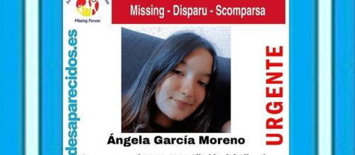 Ángela García Moreno, la niña desaparecida. (Twitter @sosdesaparecido)