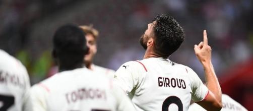 Olivier Giroud, attaccante del Milan.