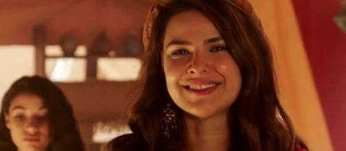 Raquel detona gravidez em 'Gênesis' (Reprodução/Record TV)