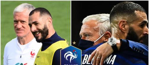 Didier Deschamps défend Karim Benzema après l'échec de l'Euro 2020 (capture Youtube et montage photo)