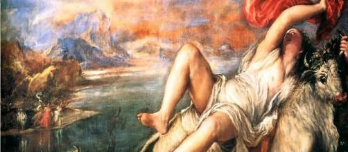 Titian, Rape of Europa (Image source: BU Titian/Rubens Mapping Project/Flickr)