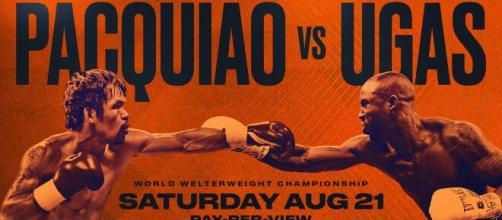 Pacquiao vs Ugas in diretta tv su Sky, domenica 22 agosto.