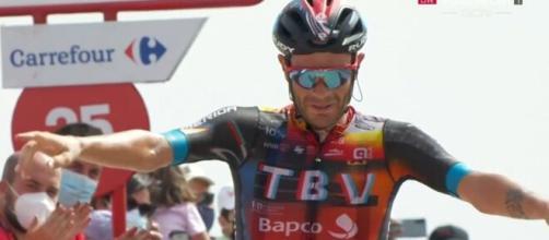 Damiano Caruso vincitore della nona tappa della Vuelta Espana