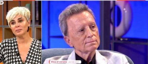 Ana María Aldón afectada tras las palabras de amor de Ortega Cano a Rocío Jurado (Captura: Telecinco)