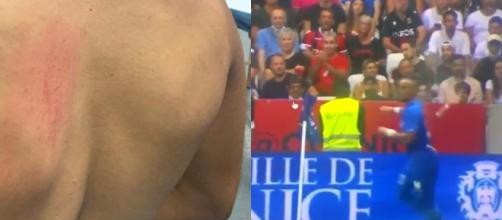 Dimitri Payet pris à partie par des fans de Nice. (Crédit Twitter)