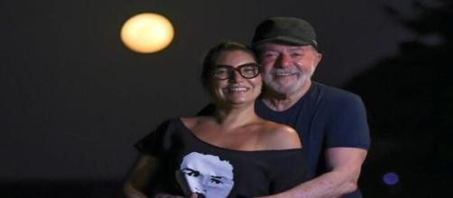 Lula e Janja, no Ceará (Reprodução/Twitter)