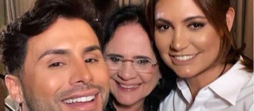 Agustin Fernandez reúne Michelle Bolsonaro e Damares Alves em festa (Foto: Reprodução/Instagram/@augustinofficial)
