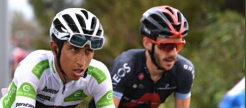 Egan Bernal alla Vuelta Espana.