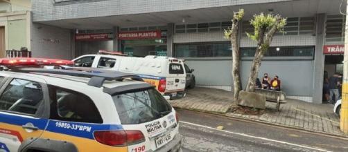 Fachada da delegacia de plantão de Betim, na Região Metropolitana de BH. (Divulgação/Polícia Militar)