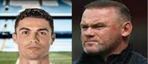 Wayne Rooney se paye Cristiano Ronaldo qui pourrait aller chez le rival City (montage photo et capture Youtube)