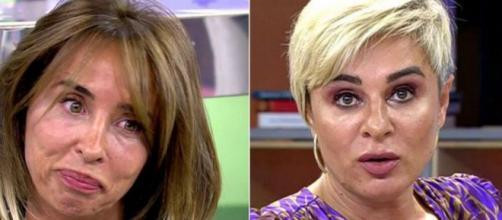 Ana María Aldón muy enfadada con lo que María Patiño dice de Ortega Cano, le lanza una adventencia (@VivaLaVida)