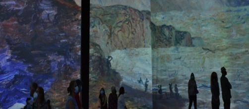 Cliffs at Pourville, Beyond Monet, Toronto Convention Centre (Image source: Snuffy)