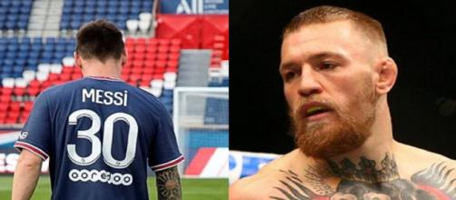 Conor McGregor est prêt pour la première de Messi (Source : montage photo et capture Youtube)