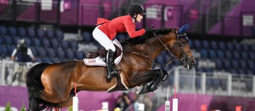Bruce Springsteen's daughter Jessica debuts at Tokyo 2020 (Image source: Twitter/@USequestrian)