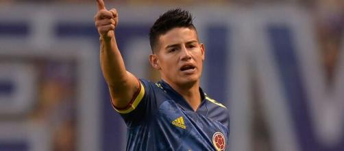 In foto James Rodriguez, trequartista colombiano.