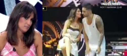La presentadora Lorena García se escandaliza al ver cómo Maluma promociona su última gira (Antena 3)