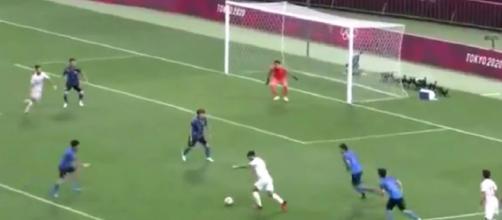 Le but de Marco Asensio qui envoie l'Espagne en finale des JO (Credit : capture Youtube)