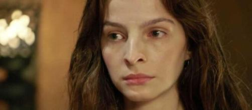 """Lia vira mãe em """"Gênesis"""" (Reprodução/Record TV)"""