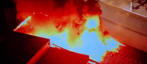 Prédio com obras do acervo da Cinemateca pega fogo em SP (Reprodução)