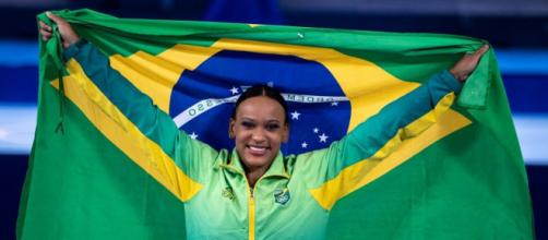 Rebeca Andrade conquista ouro (Miriam Jeske/COB)