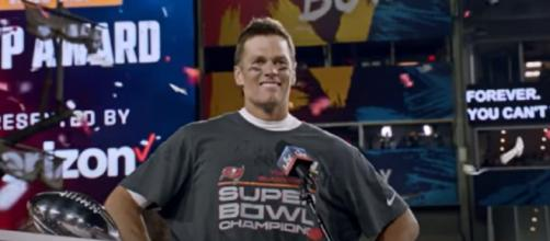 Brady carried the Bucs to a Super Bowl win (Image source: Tampa Bay Buccaneers/YouTube)