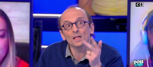 Fabrice Di Vizio, le chroniqueur de TPMP. Source : capture d'écran C8.