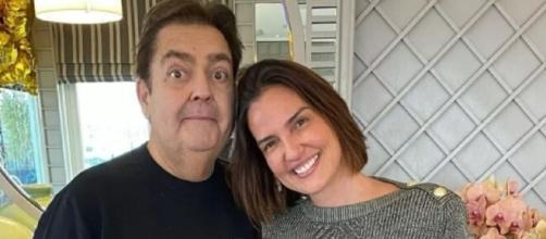 Fausto Silva e Luciana Cardoso (Reprodução/Instagram/@lucard)