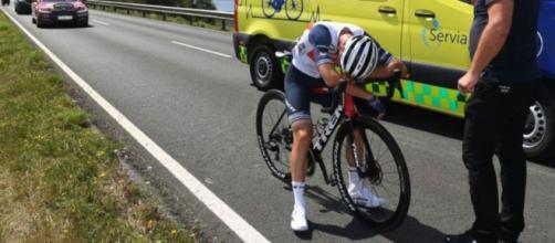 Giulio Ciccone è stato costretto a ritirarsi dalla Vuelta España.