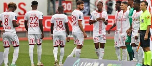 Le club de Nancy (ASNL) en Ligue 2 (Credit : Twitter ASNL)